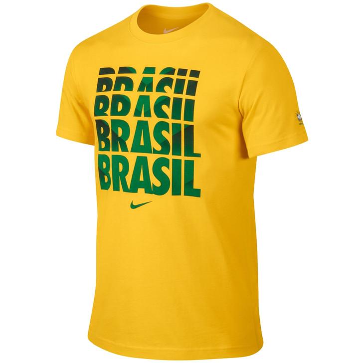 Nike Brazil WC T Shirt SD - Yellow/Green (123119)