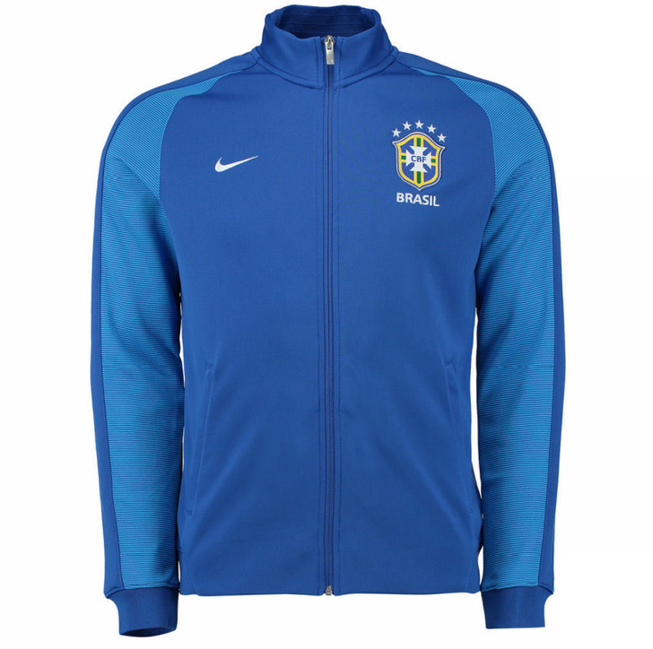 Nike Brazil 2016/17 Authentic N98 Track Jacket - Blue/White (52818)