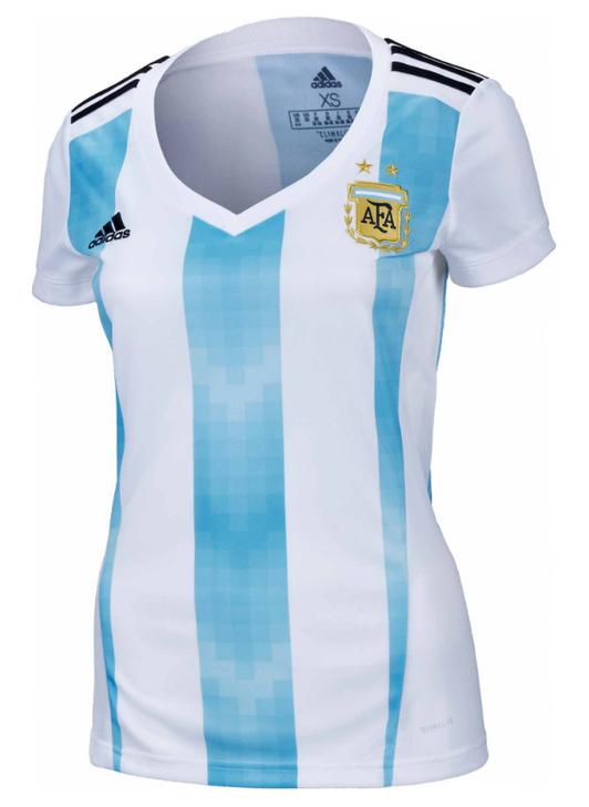adidas Womens Argentina Home Jersey 2018-19 - Sky Blue/White (020620))
