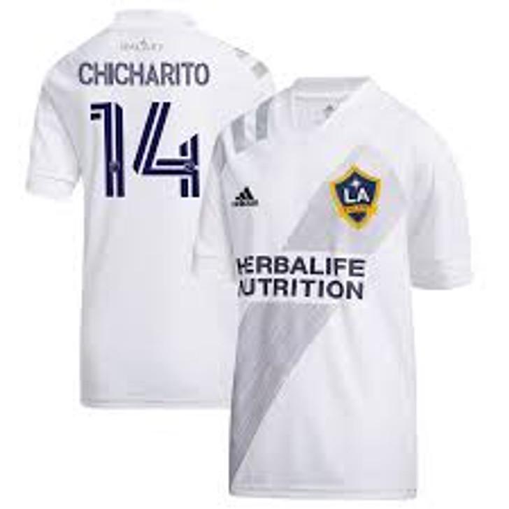 Adidas LA Galaxy Home 20/21 Youth Jersey Chicharito White/Grey (082420)