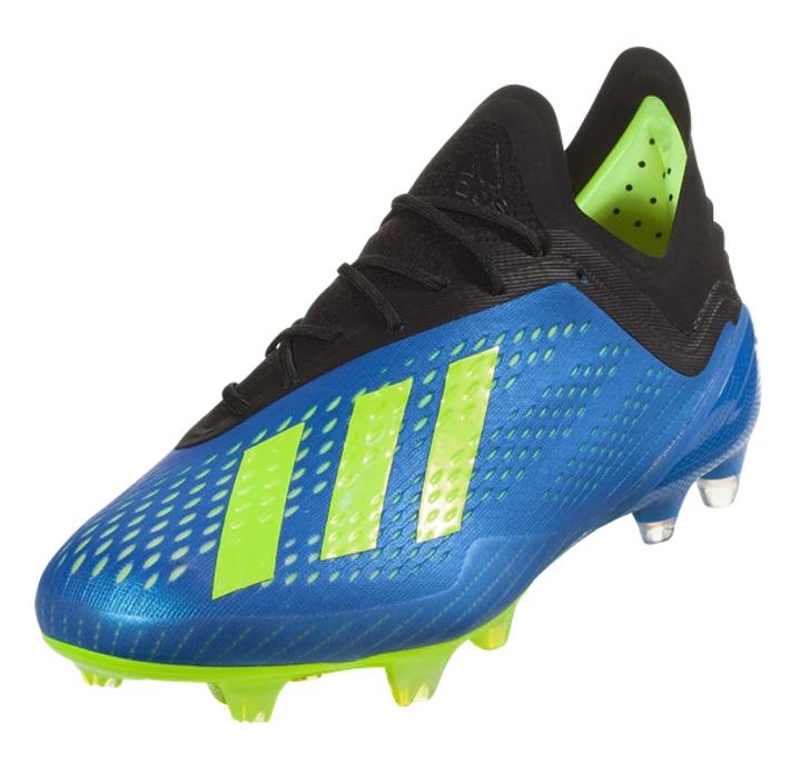 Adidas X 18.1 FG - Football Blue/Solar Yellow/Core Black RC (06819)