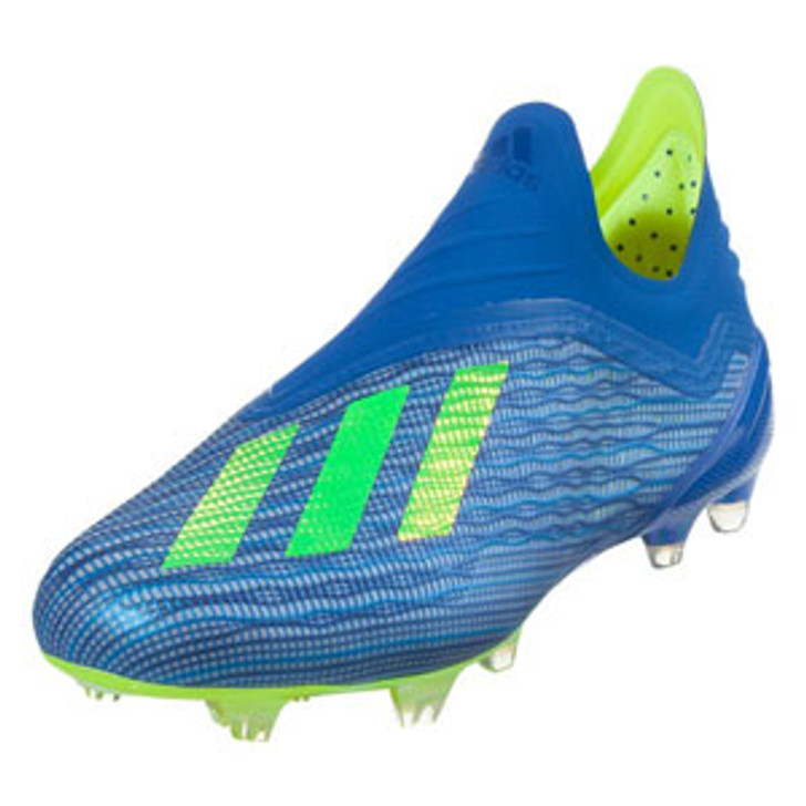Adidas X 18+ FG J - Football Blue/Solar Yellow/Core Black RC (91518)