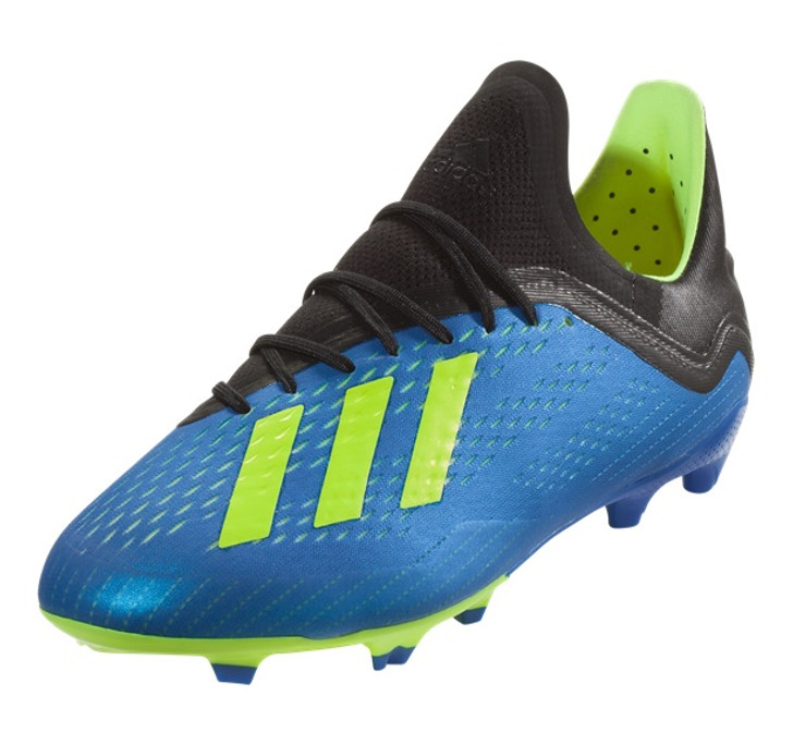 Adidas X 18.1 FG J - Football Blue/Solar Yellow/Core Black (022619)