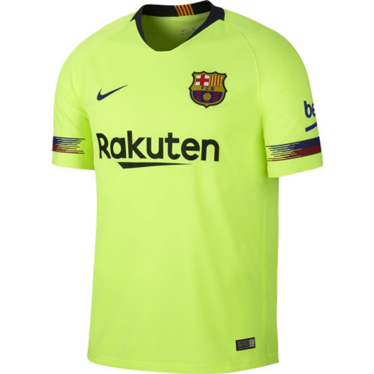 Nike Barcelona 18/19 Away Jersey - Volt/Deep Royal Blue