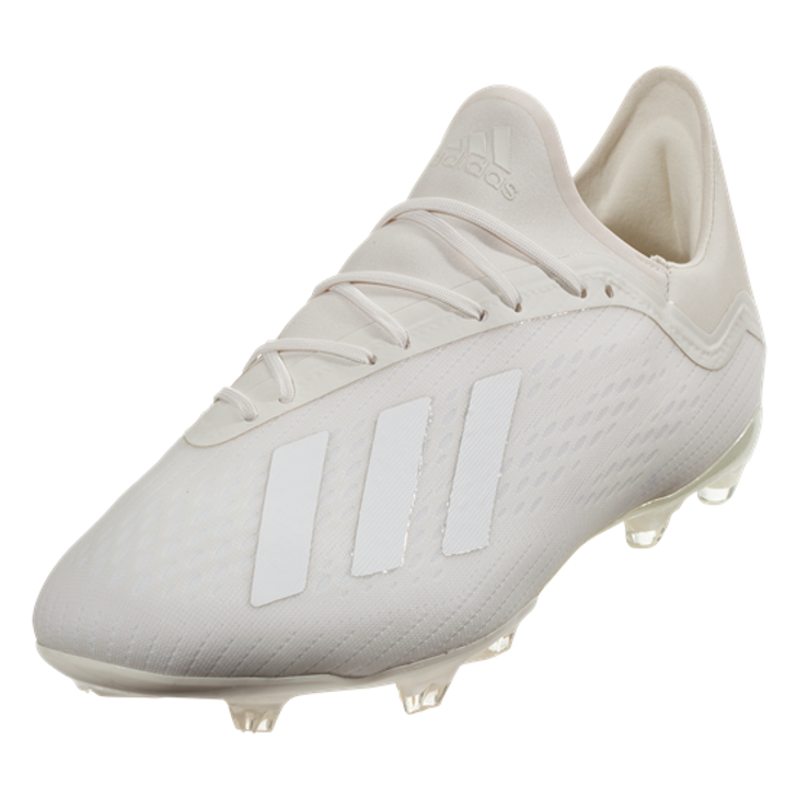 best quality cheap for discount classic shoes Adidas X 18.2 FG - Off White/ Cloud White/ Core Black RC (032419)