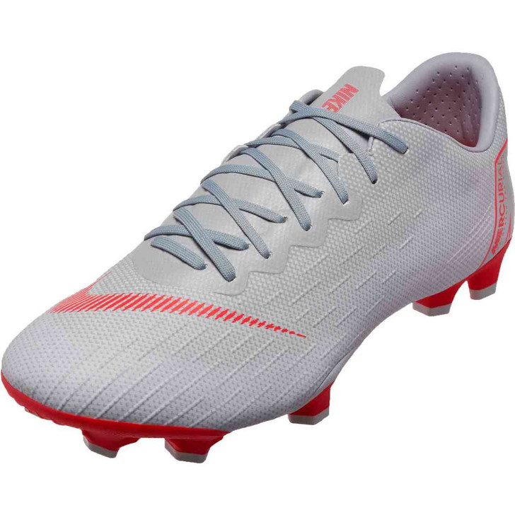 Nike Vapor 12 Pro FG - Wolf Grey/Light Crimson