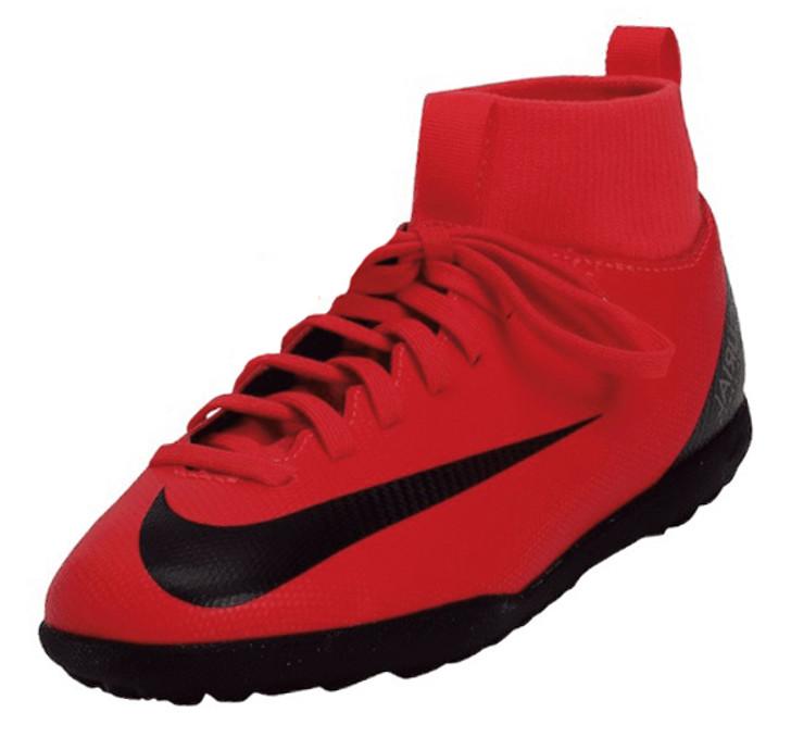 Nike Junior Superfly 6 Club CR7 TF - Bright Crimson/Black/Chrome(052119)