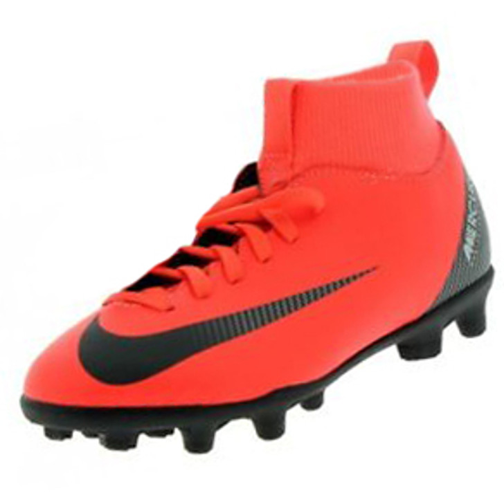 Nike Junior Superfly 6 Club CR7 FG/MG - Bright Crimson/Black/Chrome/Dark Grey SD (011620)