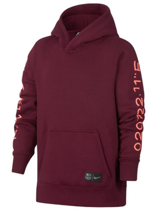 Nike Junior FC Barcelona Hoodie - Maroon (123119)