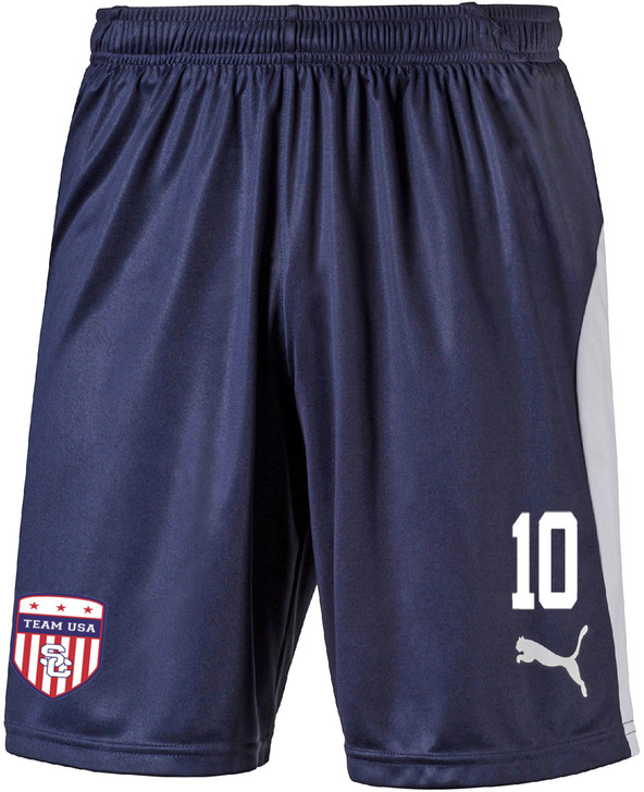 Team USA Home Shorts - Navy/White