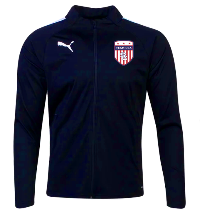 Team USA Training Jacket - Puma Team Liga 25 - Navy/White