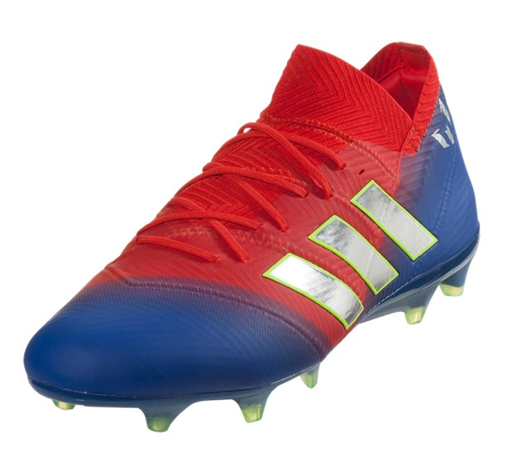 3b7681453 Adidas Nemeziz Messi 18.1 FG - Active Red Silver Metallic Football Blue RC  (042019) - ohp soccer
