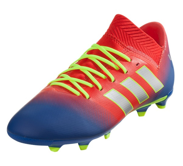 cb97483e2 Adidas Nemeziz Messi FG Jr - Active Red Silver Metallic Football Blue  (113018) - ohp soccer