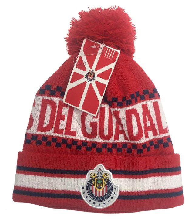 Chivas de Guadalajara Beanie - Red/White/Navy Blue (121518)