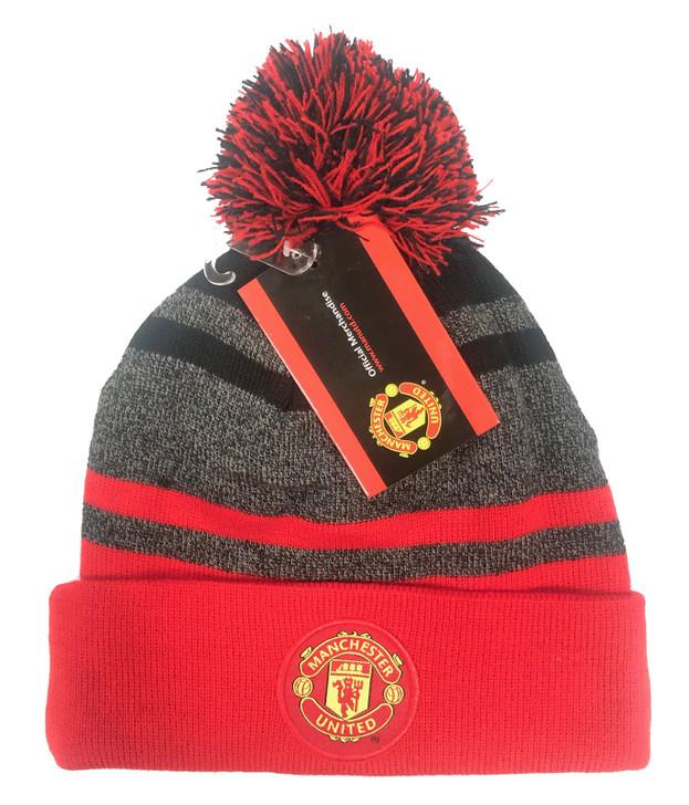 Manchester United Beanie - Red/Grey/Black (121518)