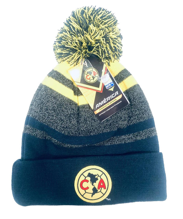 Club America Beanie - Navy/Grey/Yellow (102919)