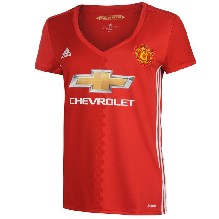 Adidas Manchester United Womens Jersey 16/17 - Red/Power Red/White -SD (122719)
