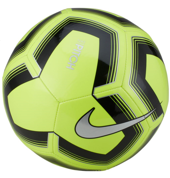 Nike Pitch Training Soccer Ball  - Volt/Black/Silver (10719)