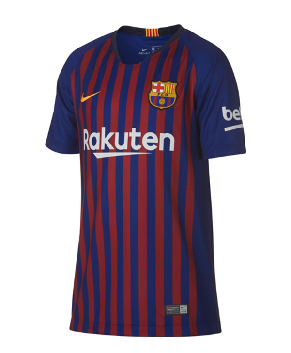 Nike F.C. Barcelona 18/19 Home Jersey Jr - Deep Royal Blue/University Gold (1719)