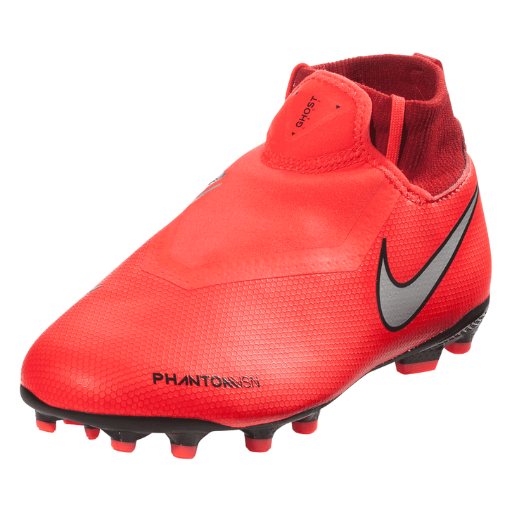 Nike Jr Phantom VSN Academy DF FG/MG - Bright Crimson/Metallic Silver (011019)