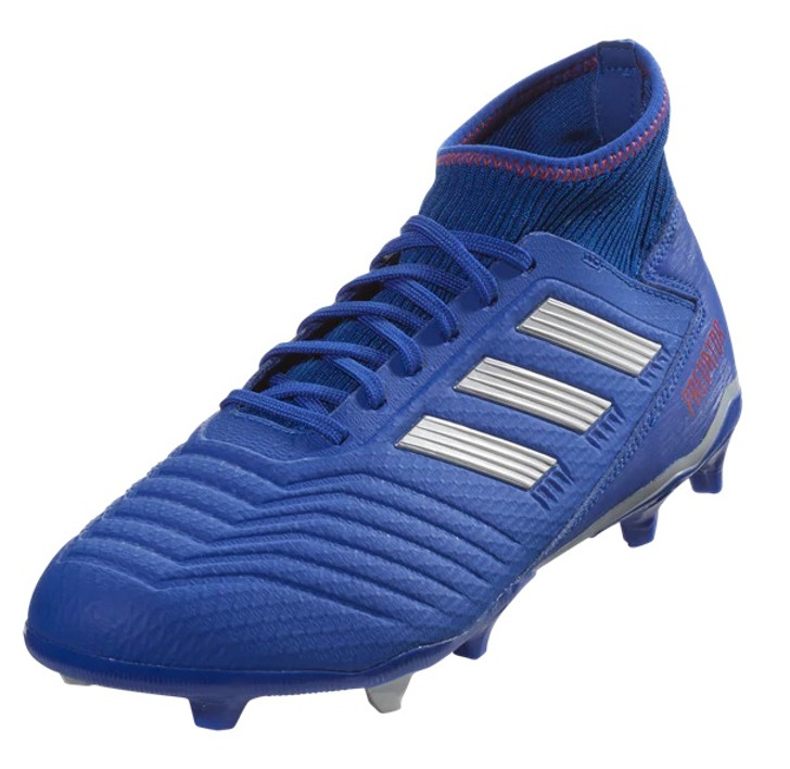 Adidas Predator 19.3 FG - Bold Blue/Silver Metallic/Active Red (012419)
