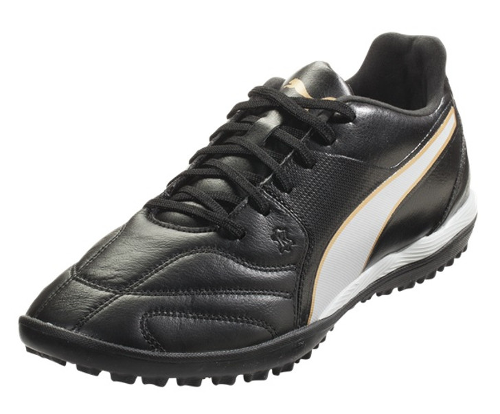 PUMA Capitano II TT Turf - Black/White/Team Gold (012819)