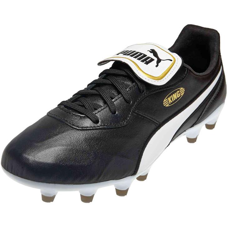 Puma King Top FG Soccer Cleats - Puma Black/Puma White (050820)