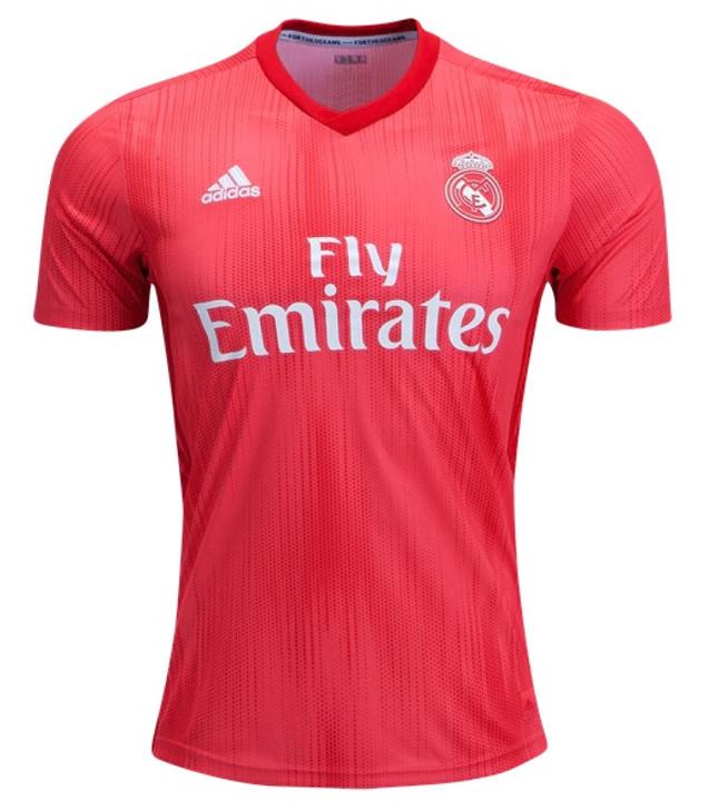 Adidas Real Madrid 3rd Jersey - Real Coral/Vivid Red (013119)