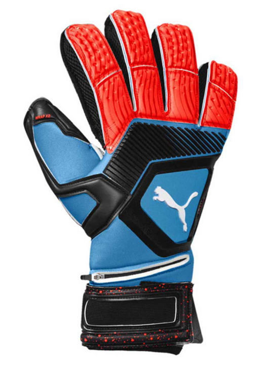 Puma One Protect 1 GK Gloves - Bleu Azur/ Red Blast/Black (020819)