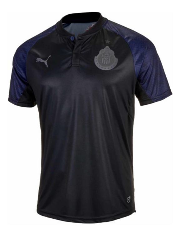 903021610 Puma Chivas Kids Away Jersey 17 18 Jr. - Purple Black Silver (021719) - ohp  soccer