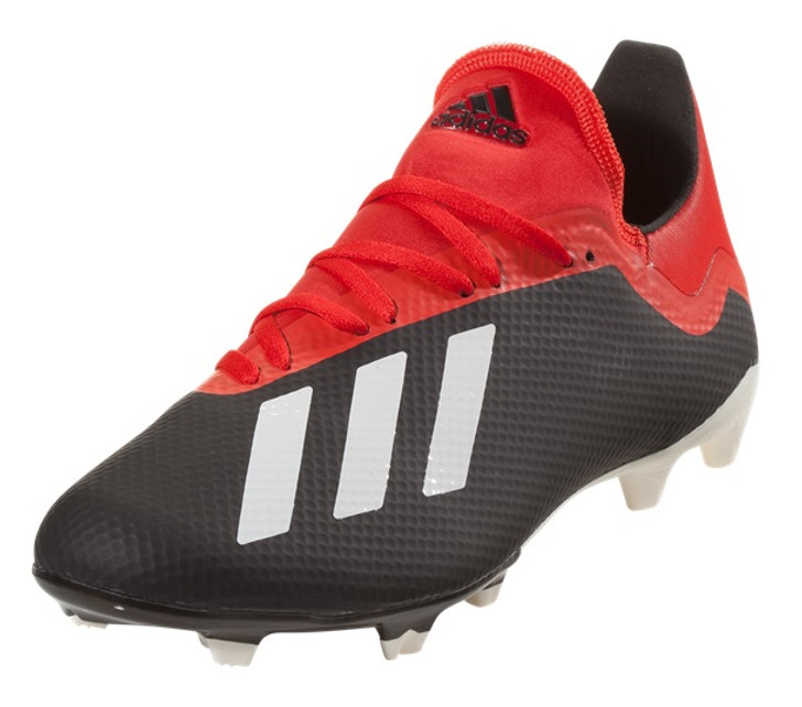 Adidas X 18.3 FG - Core Black/Off White/Active Red/Grey (030419)