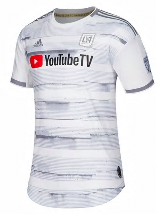 Adidas LAFC Authentic Away Jersey 19/20 - White/Grey (030619)