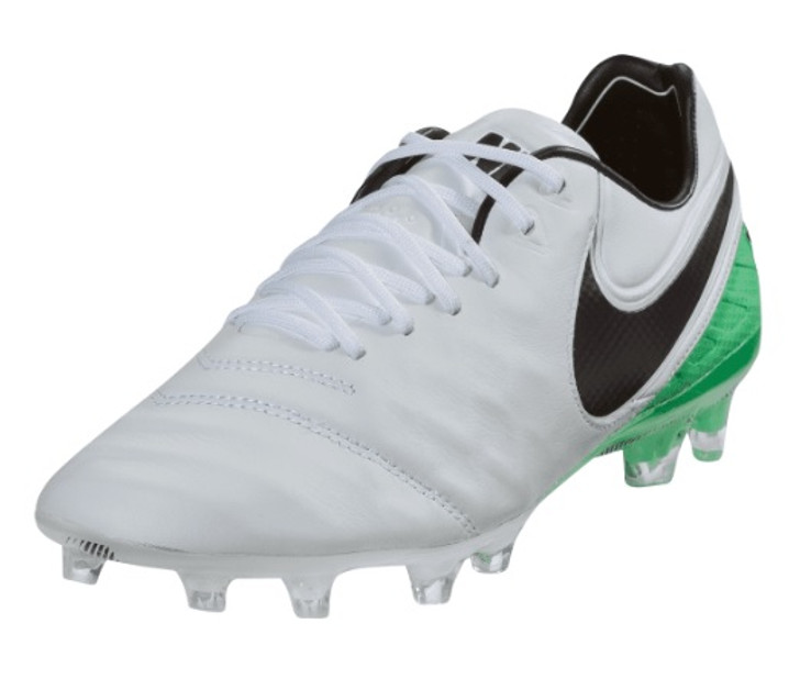 Nike Tiempo Legend VI FG - White/Black/Electro-Green RC (031419)