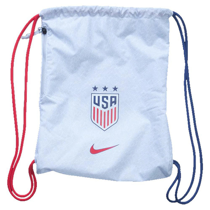 Nike U.S.A. Stadium Gym Sack - White/Pure Platinum/University Red (050819)