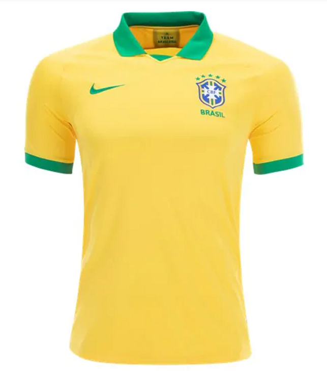 Nike CBF Brasil 2019 Home Jersey - Midwest Gold/Lucky Green RC (051520)