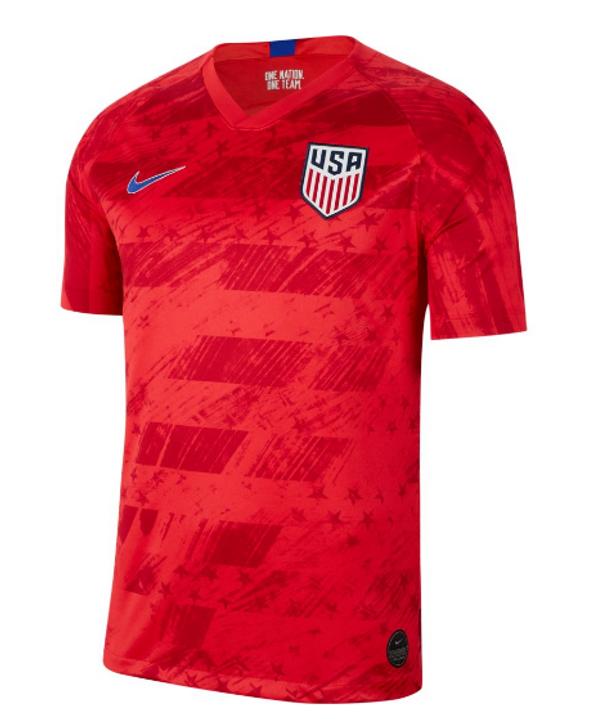 Nike Men's USA National Team Stadium Jersey - Speed Red/Bright Blue/Bright Blue (060619)