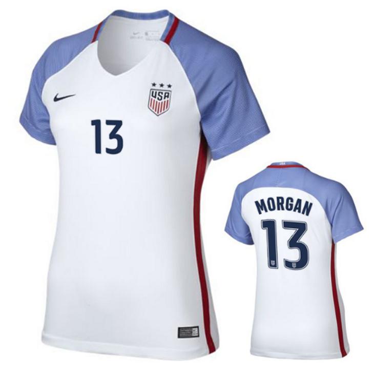 Nike US Women's National Team Alex Morgan Jersey 16/17- 886396-100