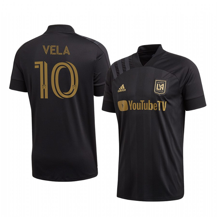 Adidas LAFC  Home 20/21 Jersey Carlos Vela- Black/Dark Football Gold- (081920)