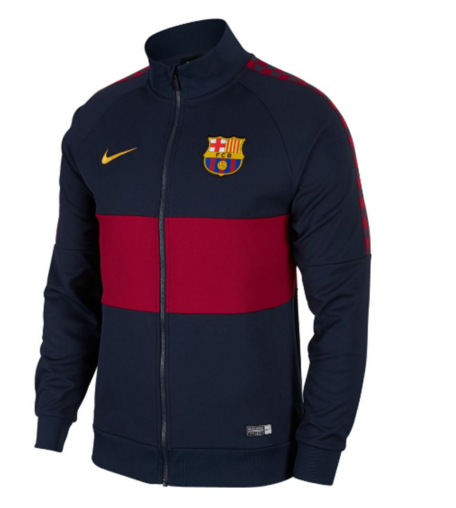 Nike F.C. Barcelona Men's Jacket - Obsidian/Noble Red/University Gold (051520)