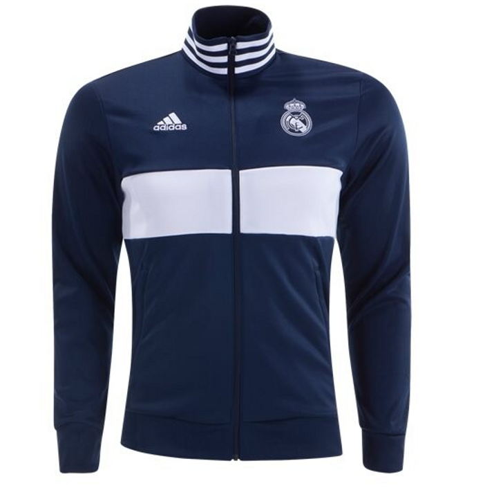 Adidas Real Madrid 3 Stripe Track Jacket 19/20 -  Navy/White (051520)