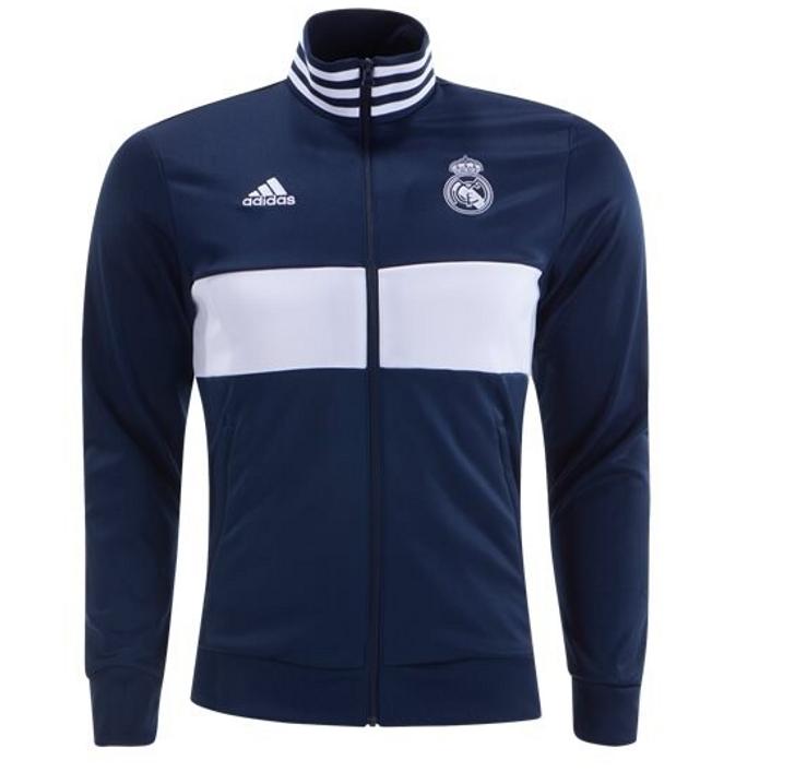 Adidas Real Madrid 3 Stripe Track Jacket 19/20 -  Navy/White (062819)