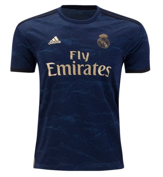 adidas Real Madrid 19/20 Away Jersey - Night Indigo/Gold-SD (012420)