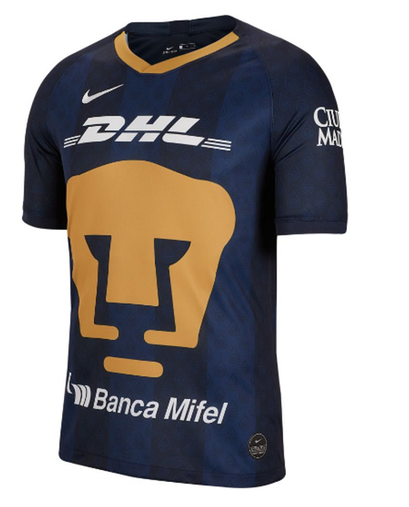 Nike Pumas Away Stadium Jersey 19/20 - Obsidian/Truly Gold/White- RC(072520)