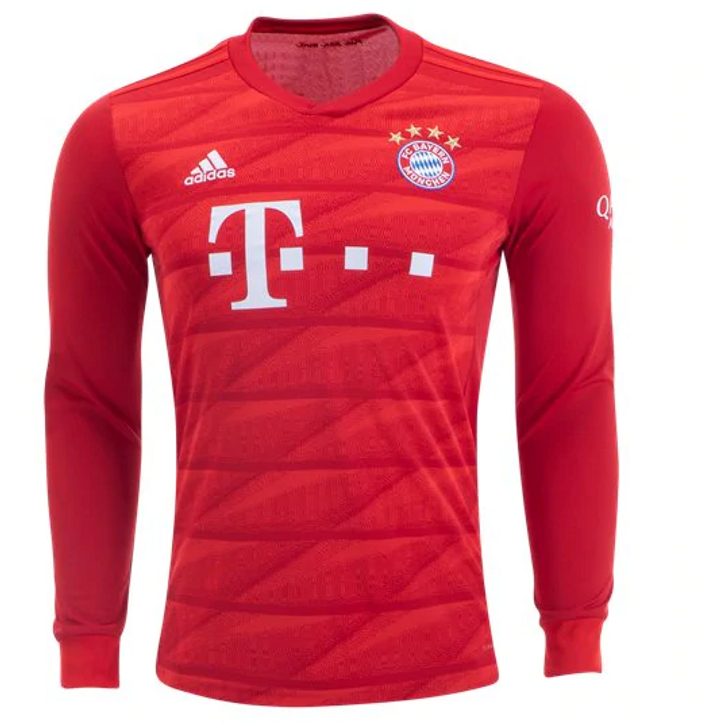 Adidas  Bayern Munich Long Sleeve Home Jersey 19/20 - True Red (110419)