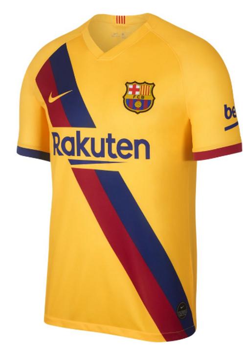 Nike FC Barcelona Away Jersey 19/20 - Varsity Maize/Varsity Maize RC (122319)