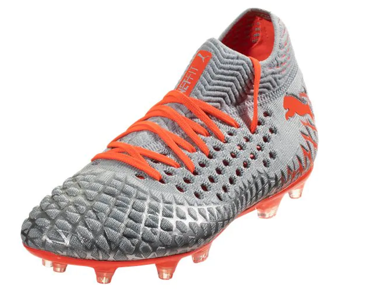PUMA Future 4.1 NetFit FG/AG Men's Soccer Cleats - Blue/Nrgy Red/High Risk Red (080219)