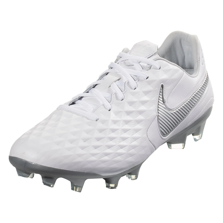 Nike Legend 8 Pro FG - White/Chrome/Metallic Silver (091619)