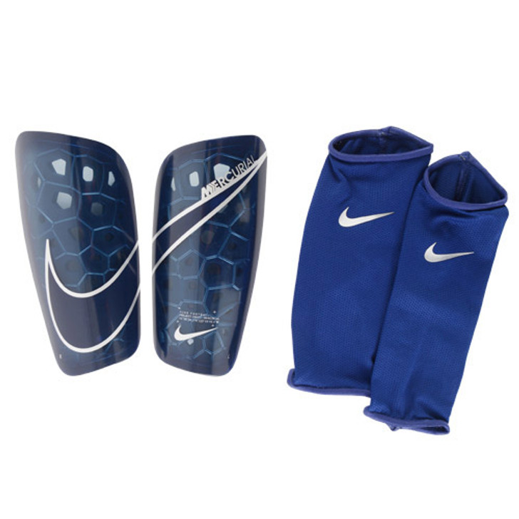 Nike Mercurial Lite Shinguards - Navy/White (013020)