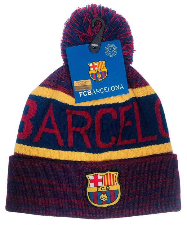 FC Barcelona Team Beanie - Maroon/Blue/Yellow (112519)