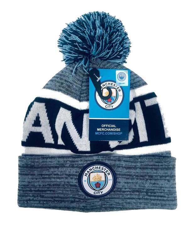 Manchester City Beanie - Grey/White/Blue (120519)